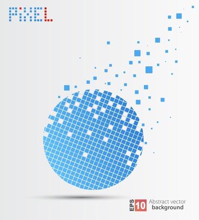 technological: Pixel art   Vector background