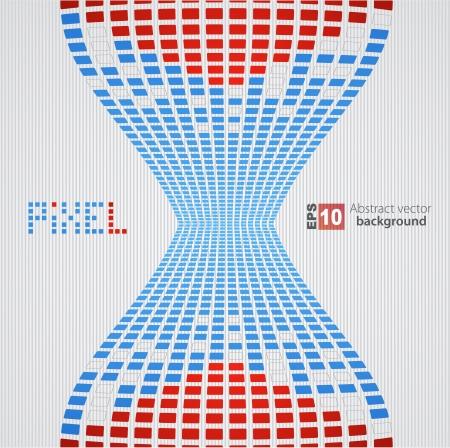 Pixel art background Stock Vector - 14134125
