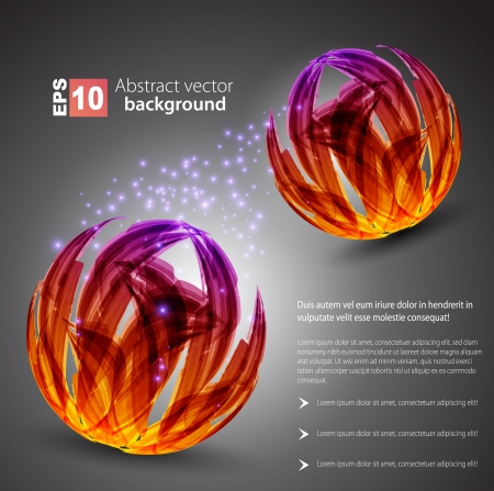 dark abstract background  color sphere  Stock Vector - 14134142