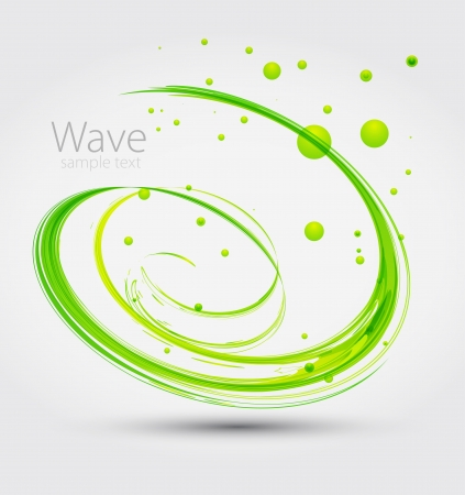 twirl: Abstract green wave