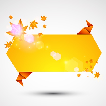 Abstract origami speech background  Autumn Vector