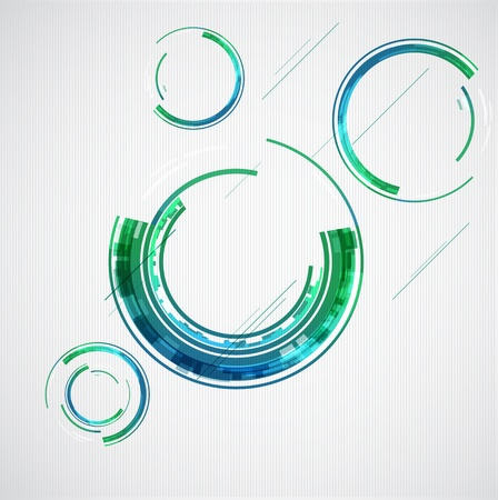Abstract color technology circles   Stock Vector - 14320833