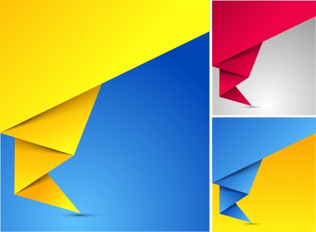 Abstract origami speech background Vector