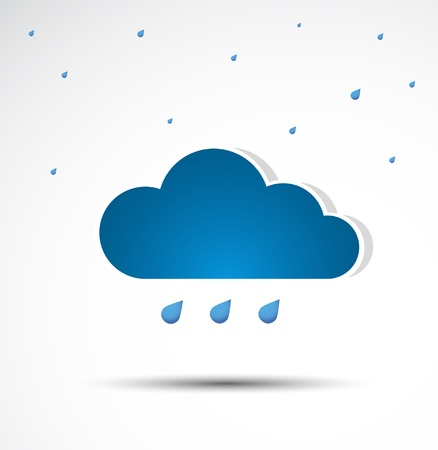 It is raining  Cloud icon  Vector
