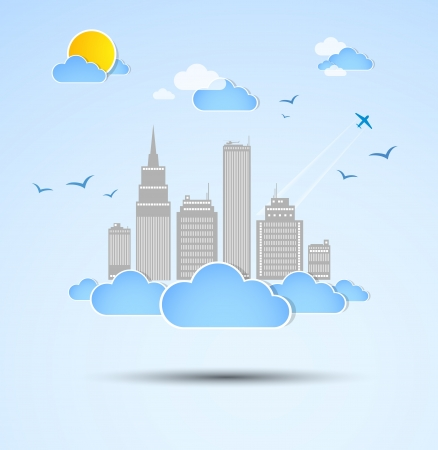 Sky-scraper  City theme background  Vector