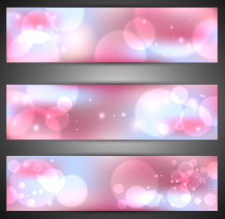Set di banner web Vettoriali