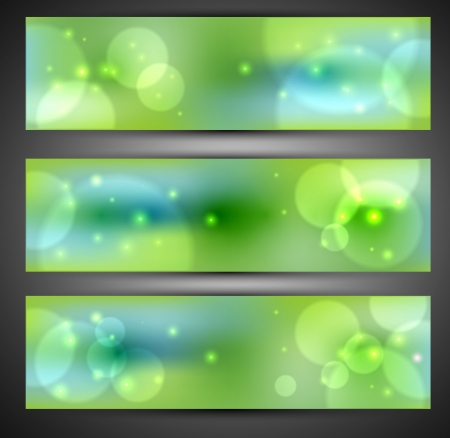 Set of web banners  Vector