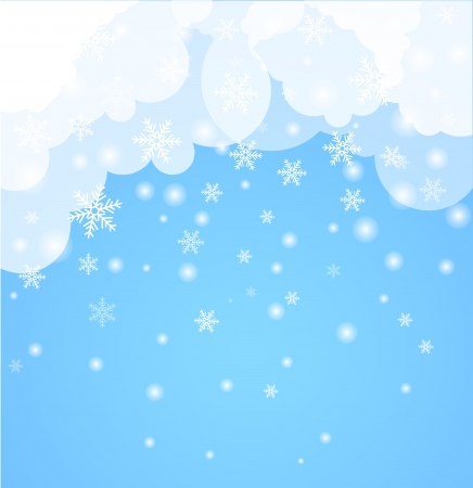 flakes: Abstract Background  Winter theme
