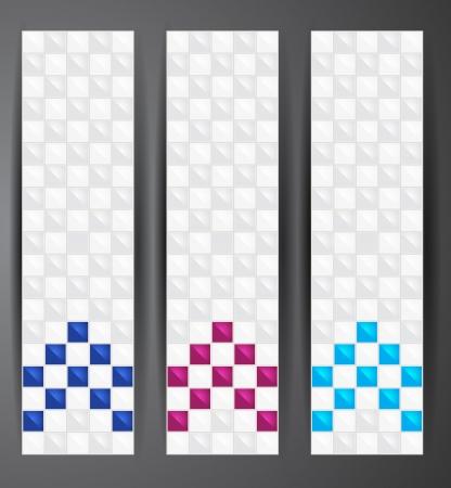 Web pixel banners   Ilustração