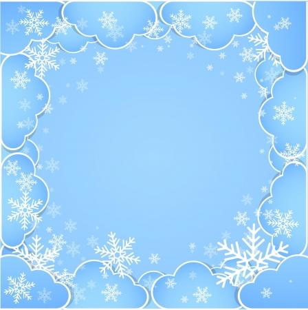 nubes cielo: Estructura de las nubes de invierno abstracto tema de fondo