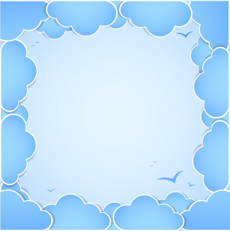prognosis: Frame made of clouds  Abstract Background  Summer theme
