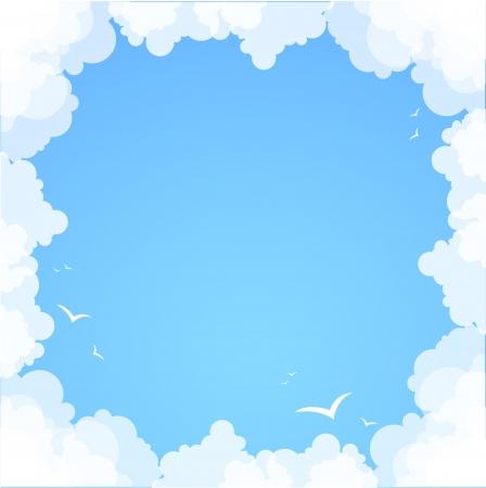 Telaio in tema di sfondo astratto estate nuvole
