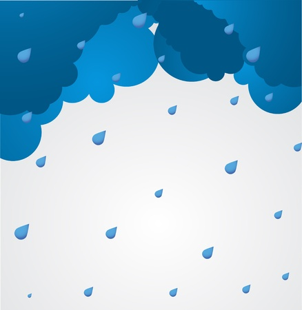 hurricane weather: Bad weather background  sky with clouds  Illustration