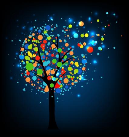 Abstract tree at night Stock Vector - 14794554