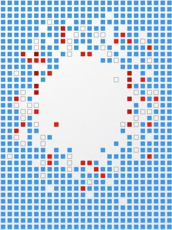 Abstract background. Pixel art.  Ilustração