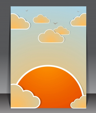 Sunset backgfround   Vector