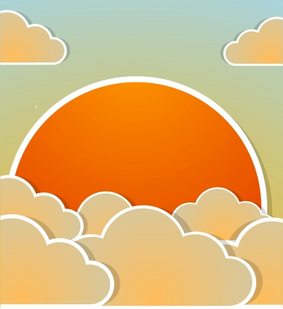 good nature: Sunrise background.  Illustration