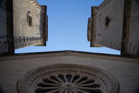 church window: Old church window in retro gothic design