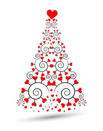 Bella albero di Natale Vettoriali