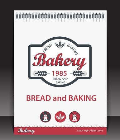 baking cake: Blank for bakery  Vector