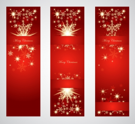 vertical banner: Vertical christmas web banners  Illustration