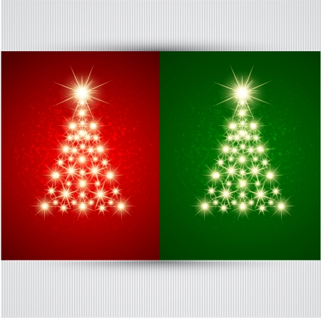 christmas stars: Christmas tree  Vector