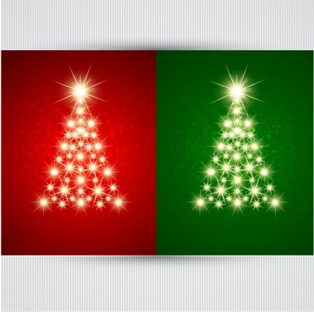 estrellas de navidad: Vector del árbol de navidad