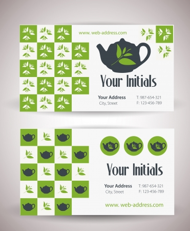Business card for tea business  Vector