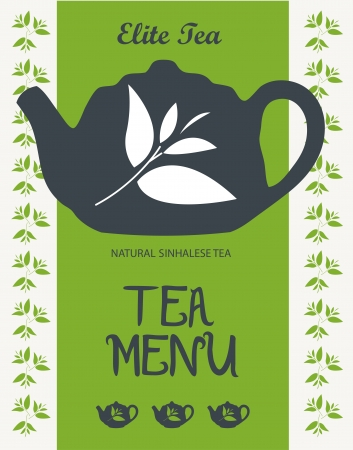 tarde de cafe: Tea Vector men�