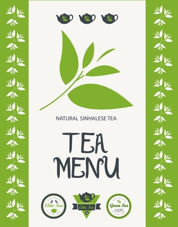 Tea menu  Vector Vector