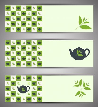 Tea web banners  Vector Vector