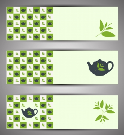 Web banners Vector Tea