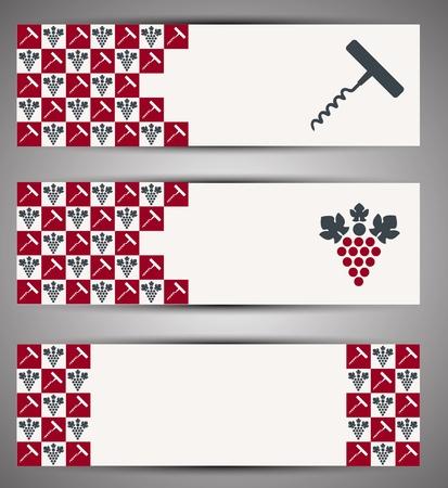 Web wine banner  Vector Vector