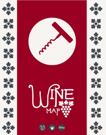 Wine map design  Vector Stock Vector - 15389410