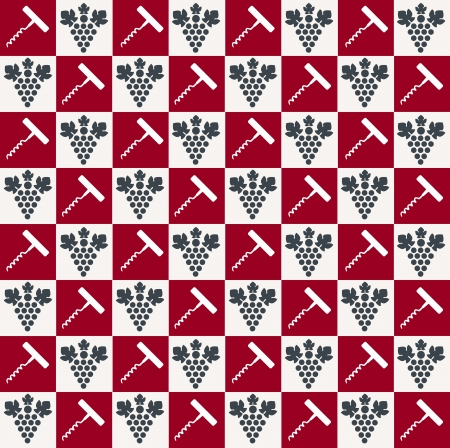 Wine pattern  Vector Vector