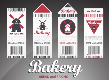Set of bakery labels  Vector Vector