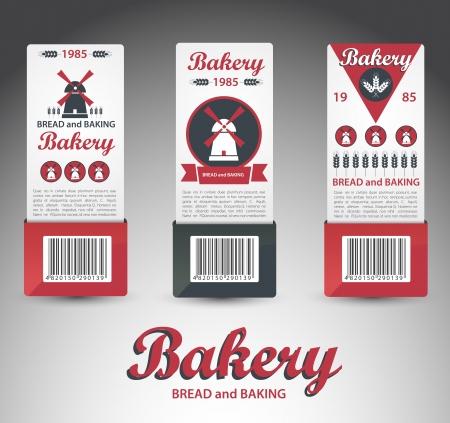 Set of bakery labels  Vector Vector