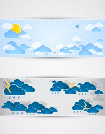 Good and bad weather background  Vector