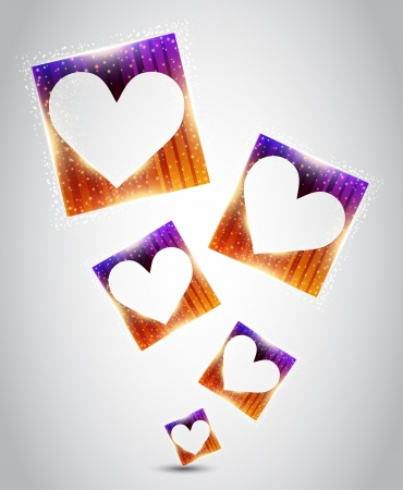 Hearts inside the square  Vector Vector