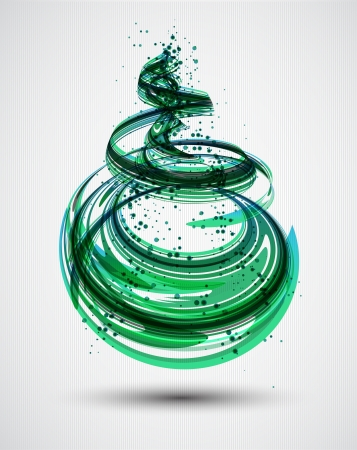 doted: Abstract Green Spiral Background  Vector