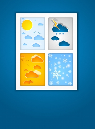Different seasons outside  Vector Stock Vector - 15582229