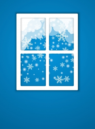 Winter after a window  Vector Vector