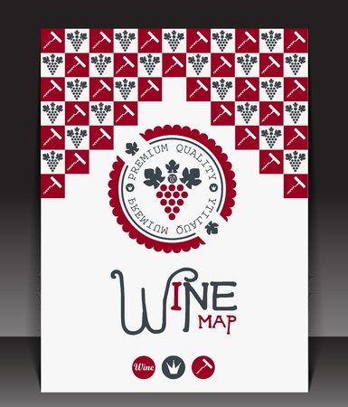 Wine map blank  Vector Vector