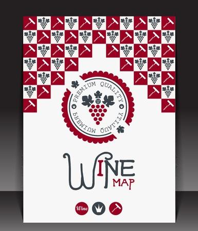 wine making: Wine map blank  Vector