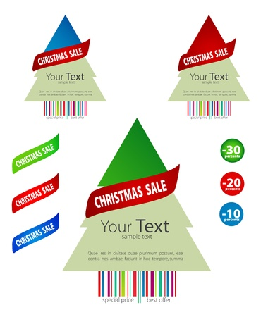 Winter sale signs set. Vector