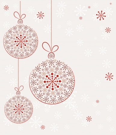 christmas mail: Christmas toys made with snow. Vector Background