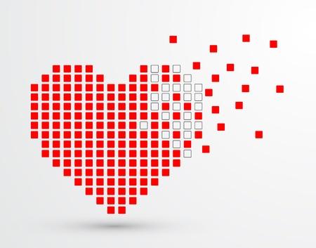 Pixel heart  Vector Vector