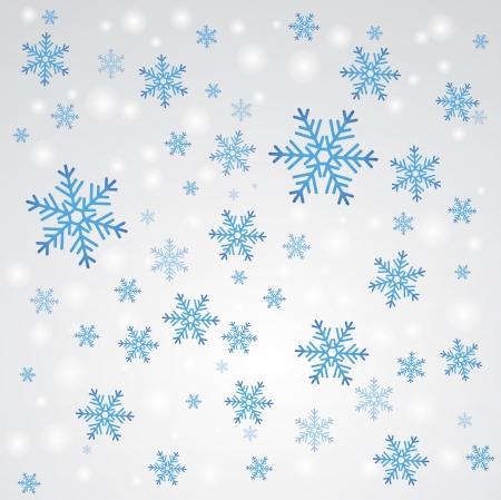januar: Schneefall Winter background