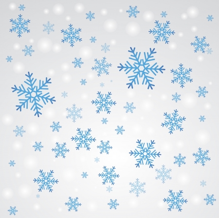 Snow fall  Winter background  Stock Vector - 15939598