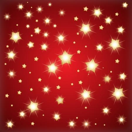 red wallpaper: Golden stars